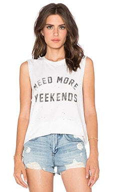 DAYDREAMER Weekends Tank in Cream