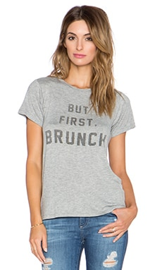 DAYDREAMER Brunch Tee in Heather Grey
