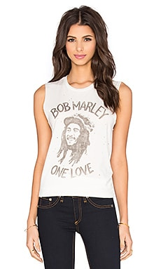 Bob Marley One Love Tank in Vintage White