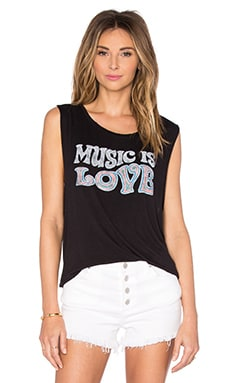 Music Is Love Tank en Noir