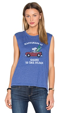 Happiness Beach Tank in Heather Blue