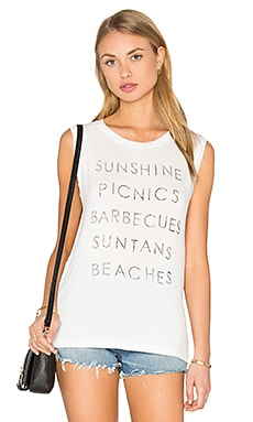 Summer List Tank in Cream