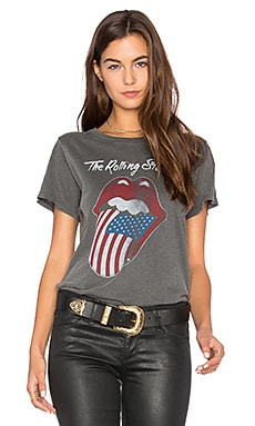 Flag Tongue Tee in Faded Black