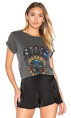 Guns n Roses Skeletons Tee in Faded Black