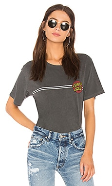 Double Stripe Dot Boyfriend Tee