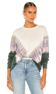 Dusty Rose Tie Dye Long Sleeve Crop Tee DAYDREAMER $69