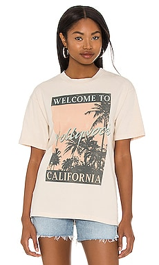 x Revolve Welcome to Hollywood Tee in Sand DAYDREAMER $69