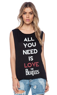 DAYDREAMER Beatles Love Tank in Black