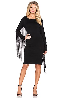 Deby Debo Reno Fringe Dress in Black