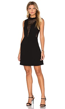 Elisa Sequin Insert Dress in Black