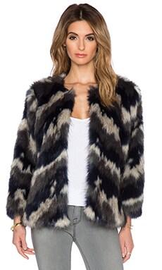 Deby Debo Effie Faux Fur Coat in Black