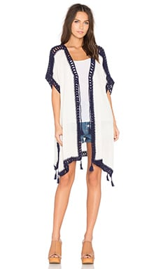 Vent Caftan in Off White