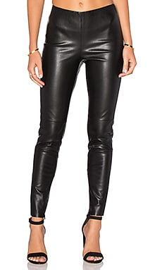 Karen Faux Leather Pant in Black