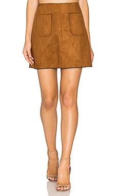 Katelyn Mini Skirt in Cognac
