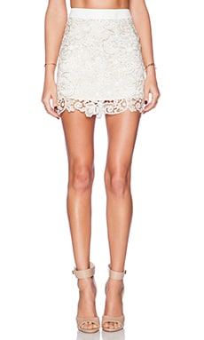 Deby Debo Liv Skirt in White & Gold