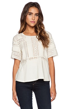 Deby Debo Novelty Top in Cream