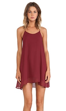 Hollywood Mini Dress in Oxblood