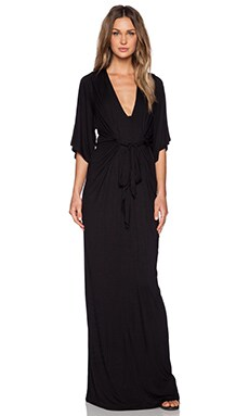 De Lacy Greece Maxi Dress in Black
