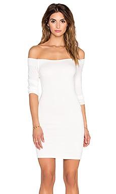 De Lacy Amelia Off Shoulder Dress in White