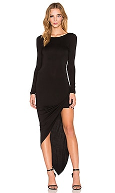 De Lacy Sam Wrap Dress in Black