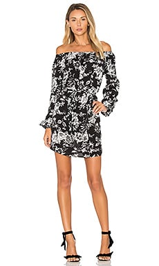 Cala Dress in Black & White