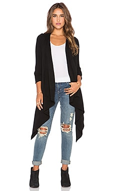 De Lacy Katie Wrap Cardigan in Black