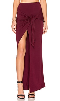 De Lacy Monica Maxi Skirt in Merlot