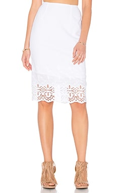 De Lacy Aria Skirt in White