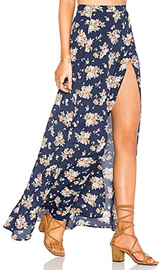 Quinn Skirt in Navy Floral