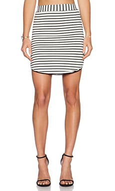 De Lacy Isabel Skirt in Black & White Stripe