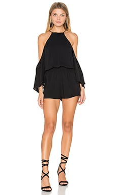 De Lacy Weston Cold Shoulder Romper in Black