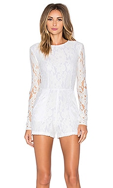 Reed Romper in White