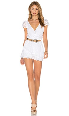 De Lacy Annabelle Romper in White