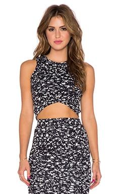 De Lacy Everly Crop Top in Navy & White