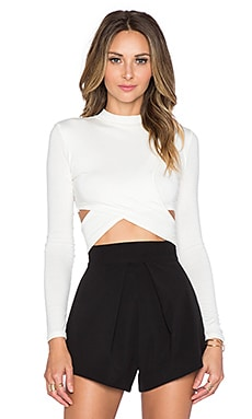 Jules Crop Top in White