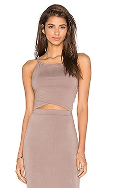 Sia Crop Top in Taupe