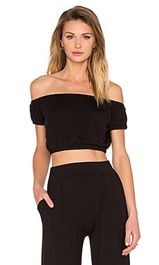 De Lacy Lulu Crop Top in Black