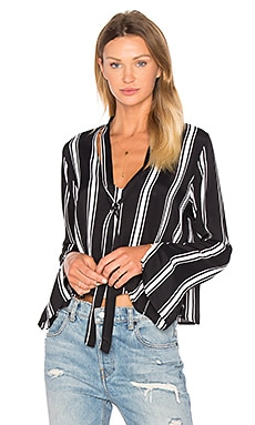 Renee Blouse en Black & White