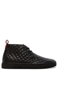 Del Toro Quilted Leather Chukka in Black