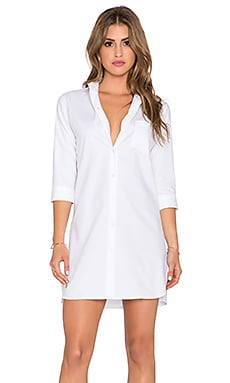 DemyLee Kasha Shirtdress in White