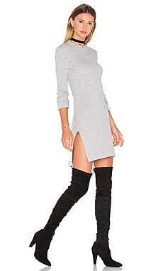 Anise Sweater Dress en Gris Clair Chiné
