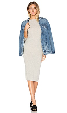 Brea Sweater Dress in Light Heather Grey