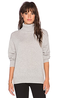 DemyLee Frankie Turtleneck Sweater in Pale Heather Grey