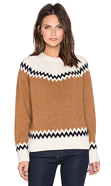 DemyLee Harper Sweater in White & Camel Combo