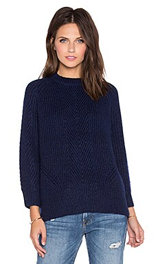 DemyLee Chelsea Sweater in Navy