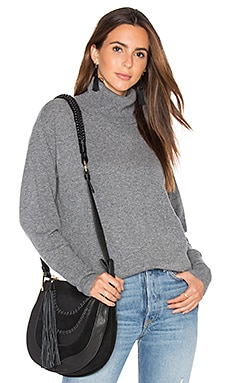 Isla Turtleneck Sweater in Medium Heather Grey