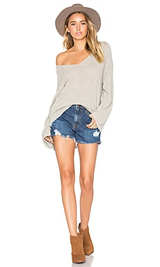 Felicity Sweater in Light Heather Grey