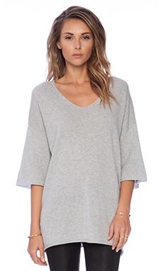 DemyLee Tabatha Tunic Sweater in Light Heather Grey