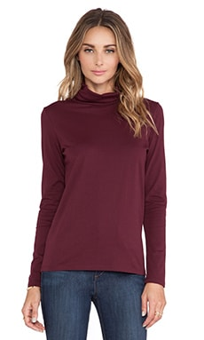 DemyLee Jenna Turtleneck in Burgundy