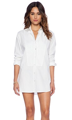 DemyLee Celia Button Up Top in White